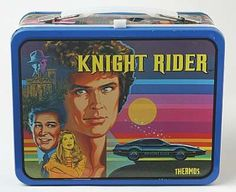 Vintage 1983 Metal Knight Rider Lunch Box w/o thermos, good condition Retro Lunch Boxes, Metal Lunch Box, 80 Tv Shows, New Wave Music, Out To Lunch, Kids Growing Up, Boxes For Sale, Car Drawings, Old Toys