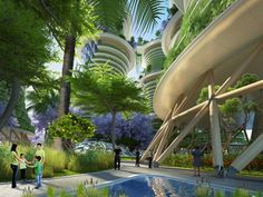 Hyperions by Vincent Callebaut « Inhabitat – Green Design, Innovation, Architecture, Green Building Architecture Durable, Architecture Design, Green Architecture, Futuristic Architecture, Sustainable Architecture, Landscape Architecture, Chinese Architecture, Residential Architecture, Pavilion Architecture