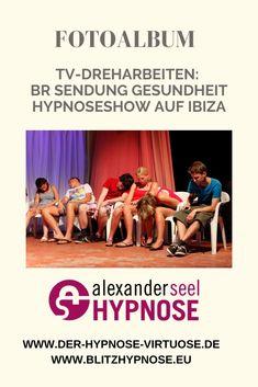 Showhypnose Fotos der Hypnoseshow auf Ibiza mit Hypnotiseur Alexander Seel. Die Showhypnose wurde von BR für das deutsche Fernsehen aufgezeichnet und war in der Sendung Gesundheit zu sehen.  #hypnoseshow #showhypnose #hypnose #alexanderseel #ibiza #hypnotiseur #fernsehen
