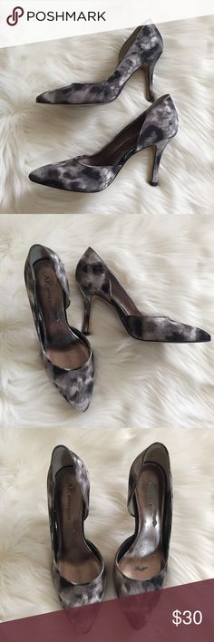 Anne Klein D'Orsay Pointy Heels Gorgeous marbled Anne Klein heels. Black and gray marbles pattern. Size 7. Good used condition Anne Klein Shoes Heels