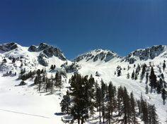 """The famous """"Rocher de l'Aigle"""", a long and scenary ski run."""