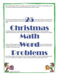 Christmas Math Word Problems product from Teachers-Toolbox on TeachersNotebook.com
