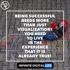 Becoming Successful Needs More Than Just Visualization - You Need To Live In The Experience That It Is Already True!  Tag your friends who need to see this! Double tap if you agree & please ! Follow me for more motivational goodies and lifehacks!  @infinite_digital_life  @infinite_digital_life