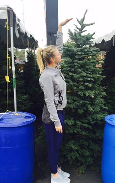 Maria's Twitter: Sneaked in a tree pick up before practice today #Christmas