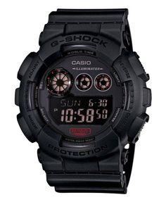 Casio G-Shock GD-120MB-1ER. Met een beweging van de pols gaat het LED-licht in het horloge automatisch aan en geeft een vooral heldere en kleurrijke verlichting. Dit model is tril- en schokbestendig en heeft een Display Flitser.