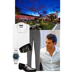 Alexander at a party with friends at Kensington Roof Gardens, London by immortal-longings on Polyvore featuring HUGO, Folk and Brioni