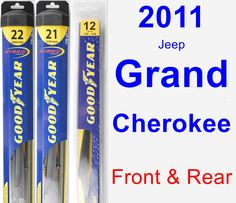 Front & Rear Wiper Blade Pack for 2011 Jeep Grand Cherokee - Hybrid