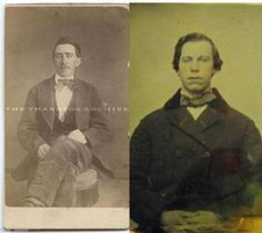 This explains a lot!     these pictures are from the 1800s. it seems that Nicolas Cage and John Travolta are vampires MIND = BLOWN