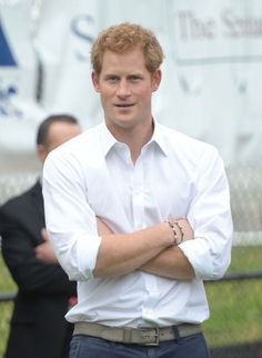 """Multiple wristbands. Supposedly a """"No"""" for guys, but I'm with Prince Harry on this one. Classic style!"""