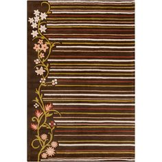 Cinzia Brown Floral Area Rug