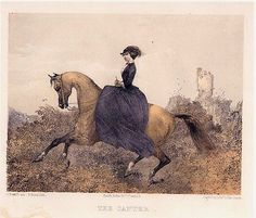 Set of 6 Sidesaddle Prints Habit The Horse copies of Lithographs 1857 | eBay