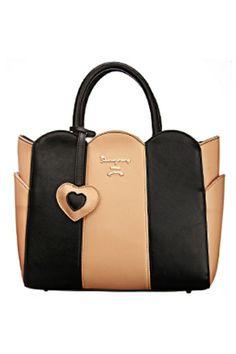 Street-Femme Contrast Paneled Bag OASAP.com