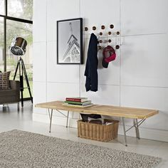 Vantage Natural Wood Top Medium Bench | Overstock.com Shopping - Great Deals on Modway Benches