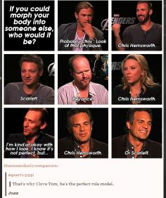 I can't decide which part of this is my favorite, the fact that Tom is such a perfect human being, or Joss Whedon.