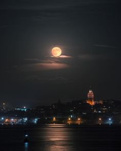 Fly me to the Moon    #galata  #fullmoon  #istanbul