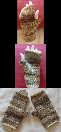 Guanti corti senza dita, misto lana ai ferri  Knitted mitts. #mittens #mitts #madeinitaly #handmade #fattoamano #dropsbigfabel