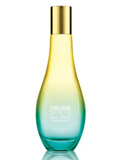 FRESH SCENT  A combination of fruity watermelon, floral, and salty aquatic notes, this scent makes us anxious to stick our toes in the ocean for the first time this season. Dreams Unlimited Sun Fresh Eau de Toilette, $25, thebodyshop-usa.com (available starting April 30)