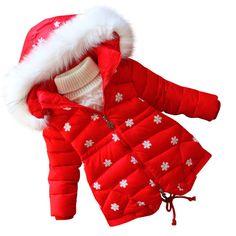 Детские куртки осень-зима из Китая :: Девочек зимние пальто куртки детские куртка зимняя дети хлопок длинные детей в 2015 году новых утолщенные D28.