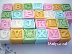 Sugarcraft letter blocks