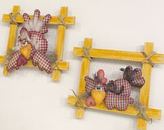 Chicken Bird, Chicken Crafts, Farm Crafts, Diy And Crafts, Chicken Pattern, Chickens And Roosters, Popsicle Stick Crafts, Country Paintings, Fabric Birds
