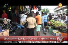 Caos en la avenida Hermanas Mirabal en Villa Mella por la cantidad de vendedores en las aceras