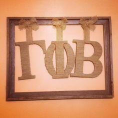 Framed Gamma Phi Beta letters