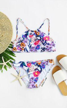 Floral Print Sexy Bikini Set