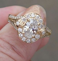 1.5 ct Oval Cut Diamond Solitaire Wedding Engagement Ring 14K White Gold $2699
