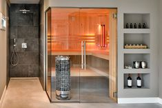 Infrared Sauna, Bad, Wellness, Divider, Kitchen Cabinets, Modern, Room, House, Furniture