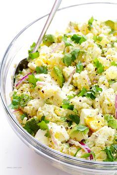 Add avocado to a classic potato salad recipe for some extra richness.