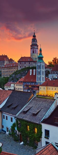 Cesky Krumlov, Czech Republic. All those colours, what stunning views. For the best of art, food, culture, travel, head to theculturetrip.com. Or click theculturetrip.co... for everything a traveller needs to know about the Czech Republic