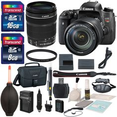 Canon EOS Rebel T6s 24.2MP DSLR Digital Camera -US Warranty &EF-S 18-135mm f/3.5-5.6 IS STM + Total of 24GB SDHC + Battery ,Travel Charger and Deluxe Bundle with Lens Cleaning Tools. The Canon EOS Rebel T6s DSLR Camera is designed to make high quality imaging simple and beautiful with its high resolution 24.2-megapixel APS-C CMOS sensor and the DIGIC 6 Image Processor for exceptionally clear, vivid and sharp pictures and striking results. This Canon EOS rebel T6s Kit is paired with EF-S...