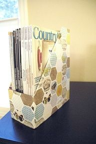 another cereal box repurpose...