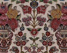 Printed on heavy linen and linen voile widht Indian Summer, Bed Spreads, Damask, Persian, Wool Rug, Printing On Fabric, Shawl, Pattern Design, Ethnic