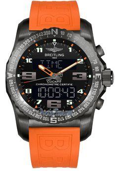 Breitling Cockpit B50 Night Mission / Black Orange / Rubber VB5010A5.BD41.241S Orange / Rubber Brand: Breitling Family: Professional Reference: VB5010A5.BD41.241S Name: Cockpit B50 Night Mission / Black Orange / Rubber Limited: No