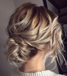 60 trendy updos for medium length hair, # for . - 60 trendy updos for medium length hair, hairstyles # medium length - Curly Hair Styles, Medium Hair Styles, Medium Hair Wedding Styles, Messy Bun Updo, Messy Buns, Braided Buns, Low Buns, Updo Curls, Braided Mohawk