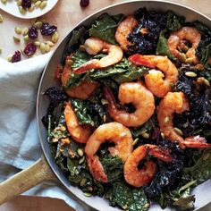 Fiery chipotle gives a kick, and the iron in shrimp         keeps you high-energy.