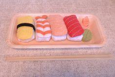 Handmade Felt Sushi Set A Includes 1 egg 1 by PinkKittyPrincess