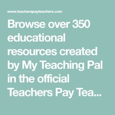 Browse over 350 educational resources created by My Teaching Pal in the official Teachers Pay Teachers store. Teacher Toolkit, Teacher Pay Teachers, Kindergarten Circle Time, Kindergarten Classroom, Missouri State University, Teaching Style, Cooperative Learning, Elementary Music, Math Centers