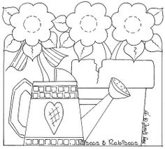 Watering can & flower pot