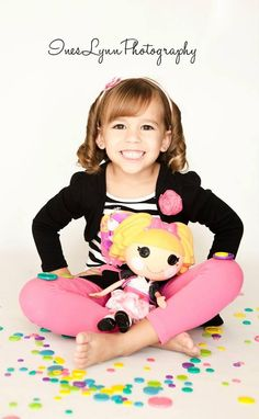 Children photography by InesLynn Photography in Miami, FL. Girls and boys photo ideas. Little girl Lalaloopsy.