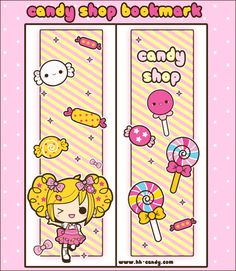 Candy Shop Bookmark Design by A-Little-Kitty