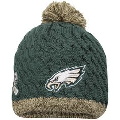 Women s 2015 Salute to Service Philadelphia Eagles New Era Green Knit 68a044e60
