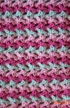 Loopy Amor Manta - un patrón #crochet libre en una variedad de tamaños!