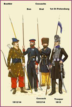 Uniform of Russian Cossacks, Napoleonic Wars, 1812 – 1815