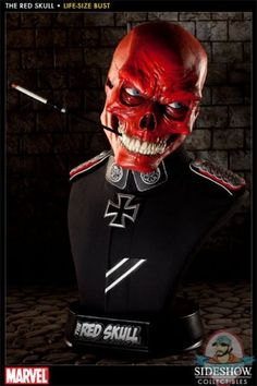 The Avengers Red Skull Life-Size Bust by Sideshow Collectibles   Man of Action Figures