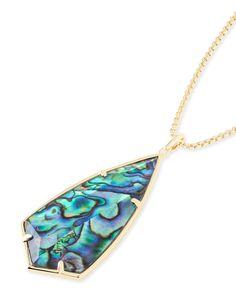 Carole Long Pendant Necklace in Abalone Shell - Kendra Scott Jewelry