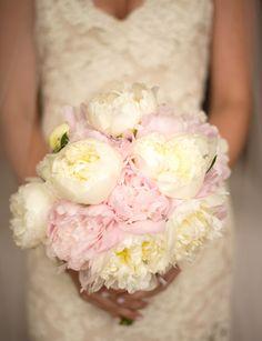 beautiful light pink and ivory bridal bouquet - wedding by Lisa Stoner and Abby Liga Photography | via junebugweddings.com