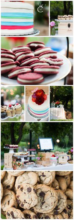 Guerneville Wedding • Dawn Ranch Wedding • Summer Wedding • Mixed Orange, Red and Pink flowers • Dessert Station • Rainbow Cake • Wine Boxes Orange Red, Red And Pink, Wine Boxes, Wedding Summer, Carrie, Pink Flowers, Dawn, Ranch, Rainbow