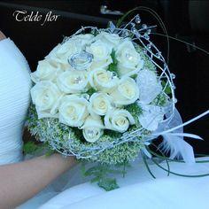 Ramo de Novia Rosas Blancas Floristeria Telde flor